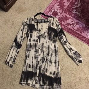 Billabong Black and White tie dye boho dress